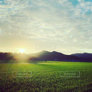 自然,風景,空,屋外,朝日,緑,雲,山,正月,お正月,日の出,新年,初日の出