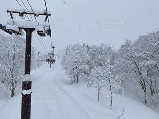 自然,風景,冬,雪,雪山,ゲレンデ,冷たい,スノーボード,水墨画の世界