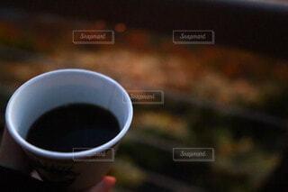 コーヒー,朝日,景色,朝焼け,食器,正月,カップ,お正月,日の出,モーニング,ドリンク,新年,初日の出,カフェイン,飲料,インスタントコーヒー,刺激