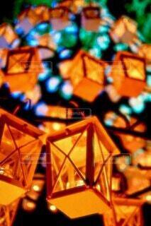 夜,ランタン,イルミネーション,ライトアップ,明るい,カラー,クリスマス ツリー