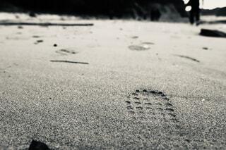 足跡の写真・画像素材[4608529]