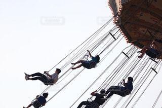 空中ブランコの写真・画像素材[4638542]