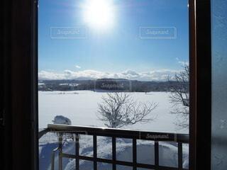 自然,空,冬,雪,雲,窓,山,眺め