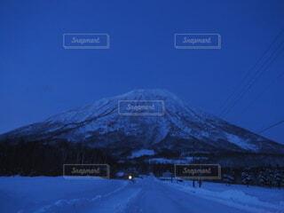 自然,空,冬,雪,山,月明かり