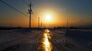 空,冬,雪,屋外,太陽,夕暮れ