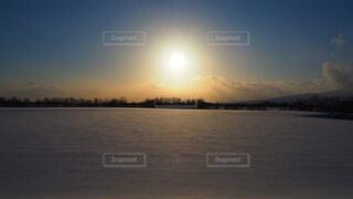 自然,空,冬,雪,屋外,太陽,雲,夕暮れ