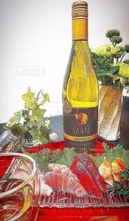 サンタカロリーナシャルドネと和食の写真・画像素材[4317420]