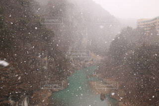 雪,屋外,水面,渓谷