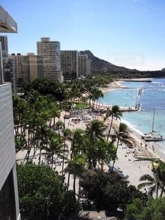 風景,海,空,屋外,ビーチ,樹木,ハワイ,リゾート
