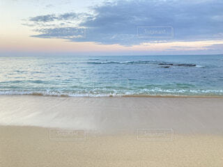 風景,海,屋外,砂,ビーチ,雲,静か,青,砂浜,波,夕方,沖縄
