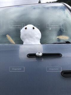 雪,車,雪だるま,可愛い