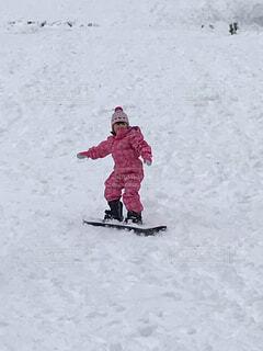 スノボー 練習 子供 雪 ゲレンデ 冬 一月