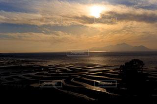 御輿来海岸と夕日の写真・画像素材[851316]