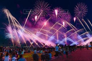 空に花火のグループの写真・画像素材[1310882]