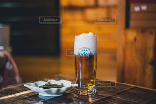 冬のビールの写真・画像素材[3919552]