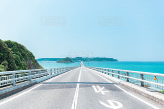 古宇利島の道路の写真・画像素材[4146426]