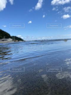海,空,夏,砂,ビーチ,雲,晴れ,青空,波,水面,海岸,白色,海面,浅瀬,くも