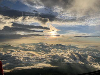 自然,風景,空,富士山,太陽,朝日,雲,登山,正月,雲海,お正月,日の出,富士,新年,初日の出,御来光,登頂
