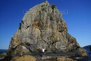 自然,空,岩