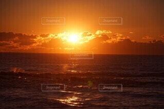 海,空,ビーチ,海岸,初日の出