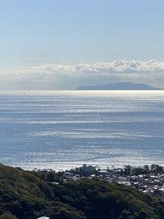 光輝く湘南の海の写真・画像素材[4029250]
