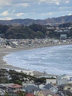 屋外,水面,鎌倉、海、眺望、,由比ヶ浜、波、見晴らし、小旅行,長谷寺、眺望の道、遊歩道