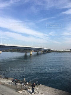 相模川下流にかかる湘南大橋の写真・画像素材[4049315]