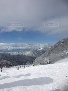 自然,空,冬,雪,屋外,山,運動,ゲレンデ,スキー場,斜面,ウィンタースポーツ