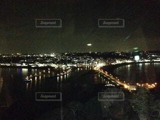 空,夜,屋外,水面,夜景、江の島、シーキャンドル,眺望、見晴らし、藤沢、海、橋