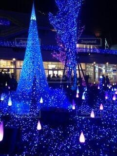 辻堂駅前テラスモールのライトアップの写真・画像素材[4070929]