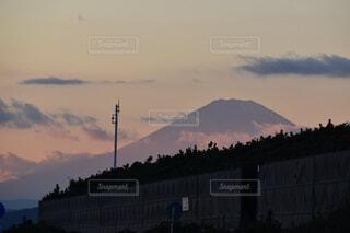 自然,風景,空,富士山,綺麗,夕暮れ,山,樹木,エモい