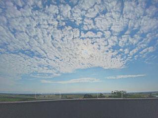 風景,空,緑,白,雲,水色,景色,うろこ雲