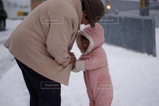 雪,屋外,子供