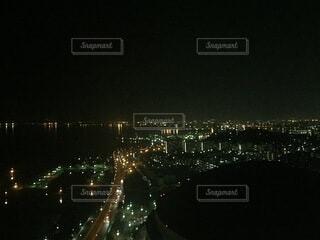 建物,夜景,綺麗,光,建造物,大きい,照明,福岡