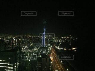 建物,夜,屋外,綺麗,都市,光,タワー,高層ビル,照明