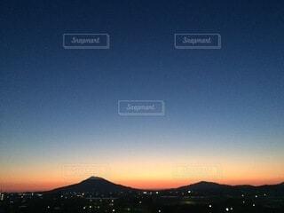 風景,空,夜,屋外,湖,雲,綺麗,青,夕暮れ,山,夕陽,高原,糸島,グラデーション,小富士
