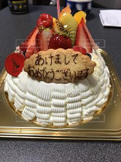 ケーキ,デザート,フルーツ,正月,新年,菓子,デコレーションケーキ,あけましておめでとう