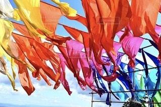 空,ピンク,白,青,紫,黄色,オレンジ