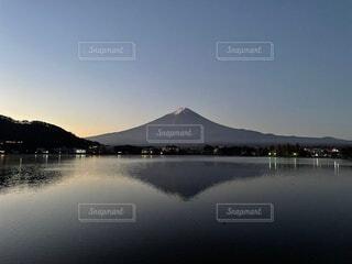 自然,風景,富士山,湖,水面,景色,河口湖,逆さ富士