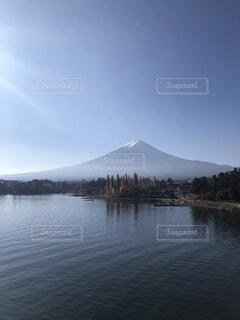 自然,富士山,湖,水面,山,旅行,山梨,河口湖