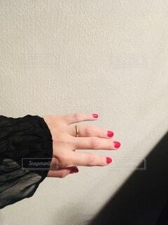 ネイル,アクセサリー,赤,手,指,セルフネイル,爪,レッド,指先,ブラック,マネキュア
