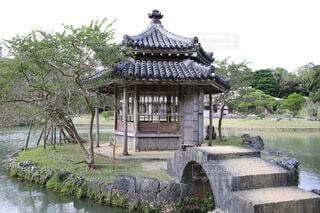 屋外,湖,池,沖縄,景色,石畳,琉球,石橋,識名園