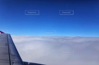 風景,空,雲,青空,青,飛行機,空中