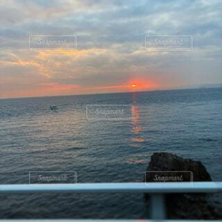自然,風景,海,空,雲,水面,旅行,日の出