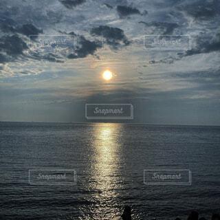 自然,風景,海,空,太陽,雲,夕暮れ,水面,旅行