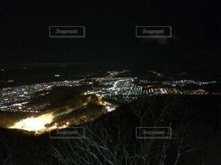 空,夜,屋外,景観