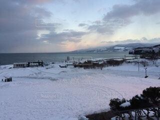 自然,風景,雪,屋外,雲,水面,海岸,山