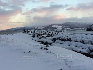 風景,空,冬,雪,雲,山,氷,くもり