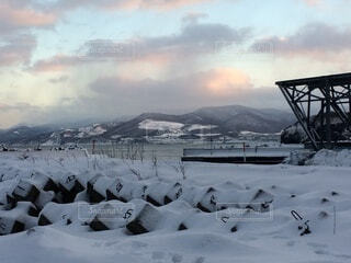 自然,風景,空,冬,雪,雲,山