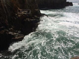 自然,海,屋外,波,水面